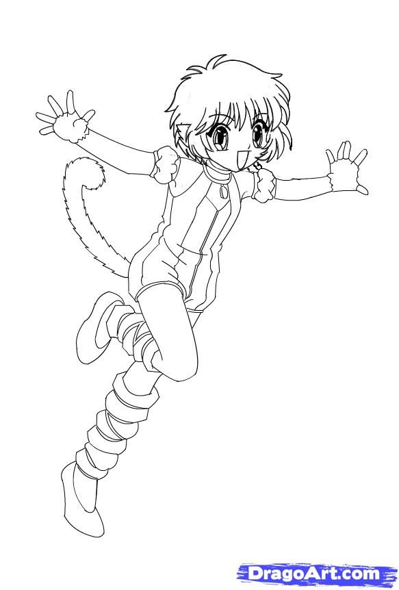 How To Draw Kiki Tokyo Mew Mew Step By Step Drawing Guide By