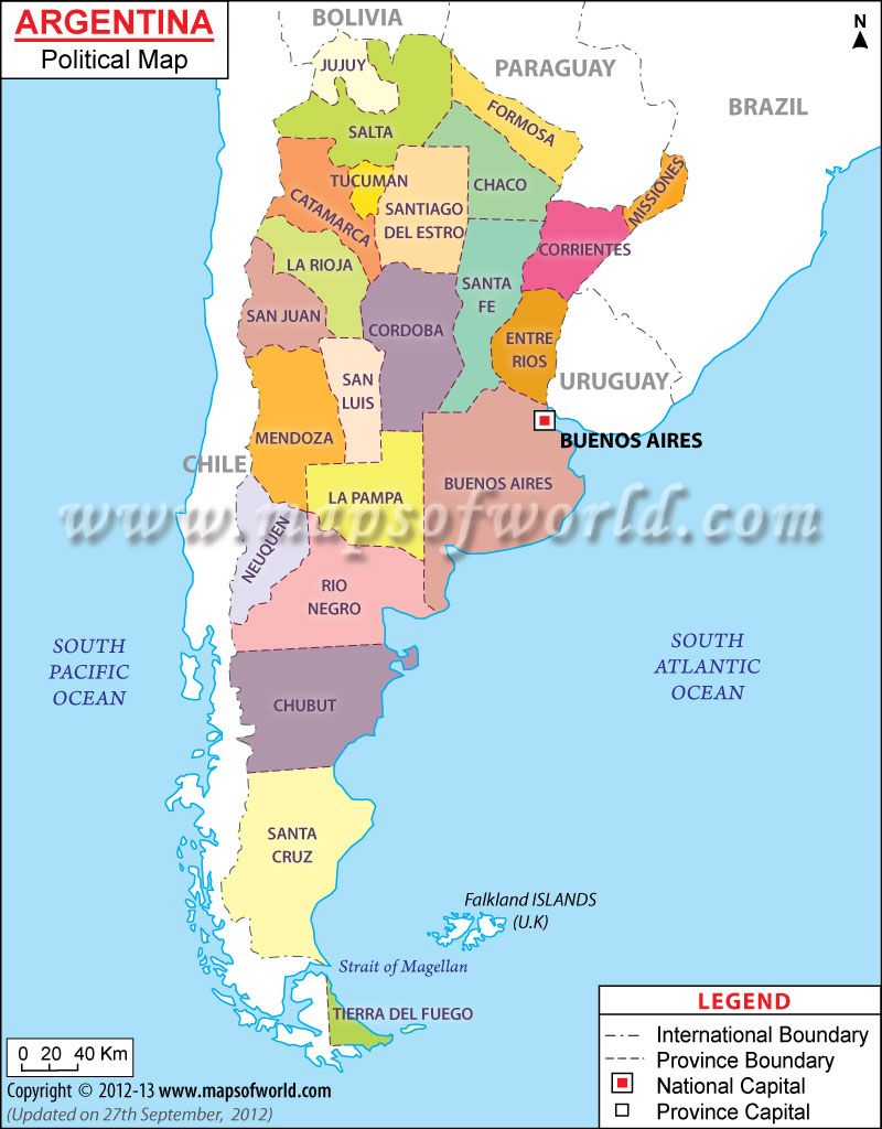 Argentina Political Map Features The International Boundary The - Us map with counties boundaries by political party