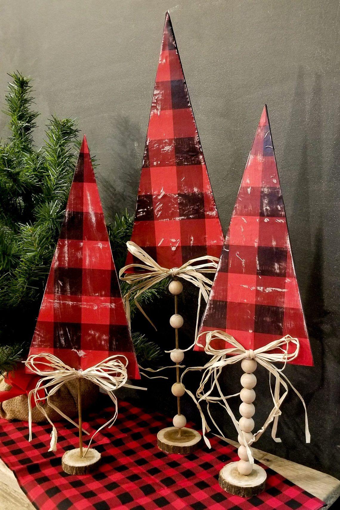 Faux Wood Foam Board Trees A Dollar Tree Diy Craft That Will Fool Anyone Kristy Dollar Tree Christmas Decor Christmas Tree Crafts Dollar Tree Diy Crafts