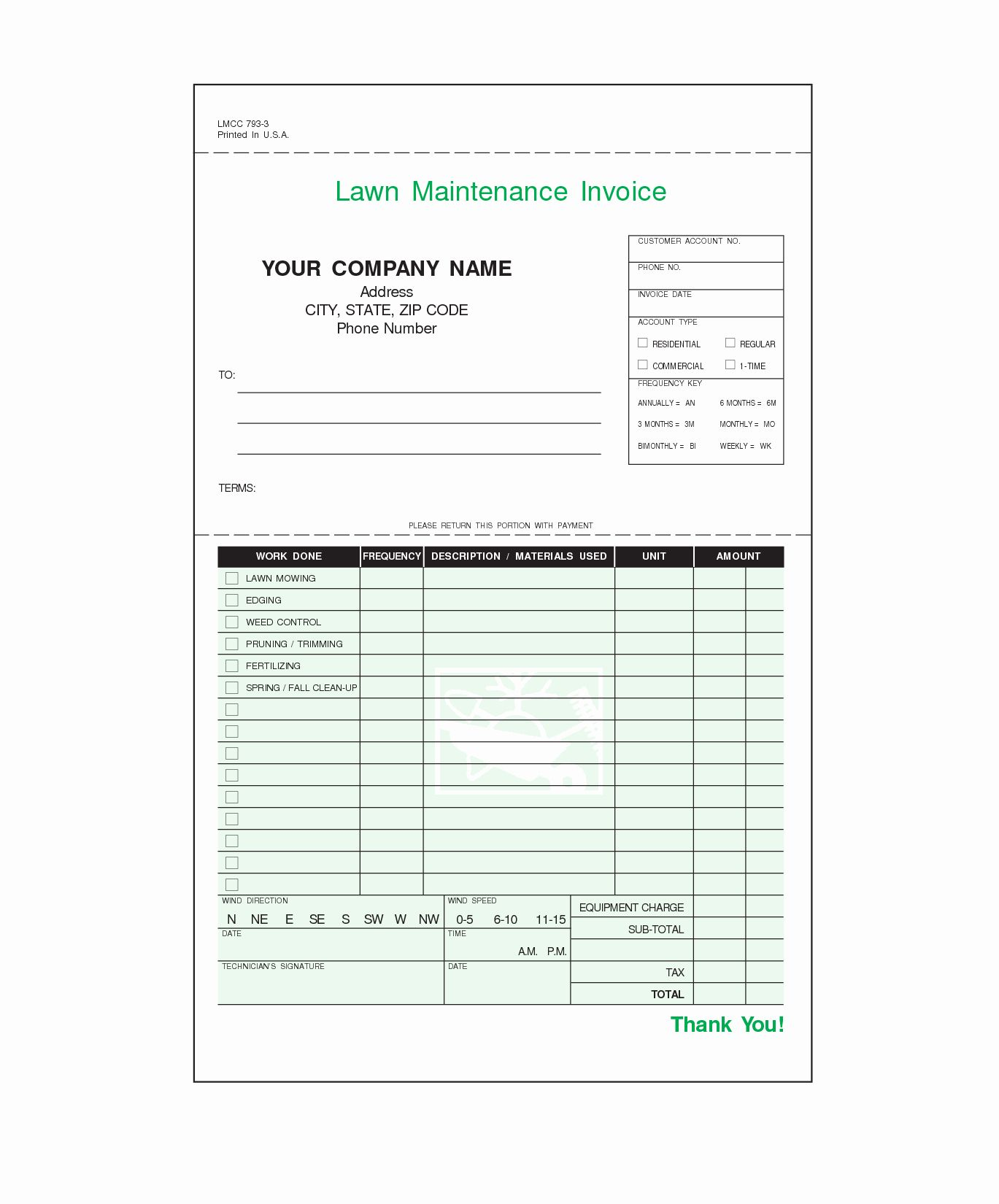 Landscaping Invoice Template Free Fresh Lawn Care Invoice Template Lawn Care Business Invoice Template Lawn Maintenance Lawn care invoice template pdf