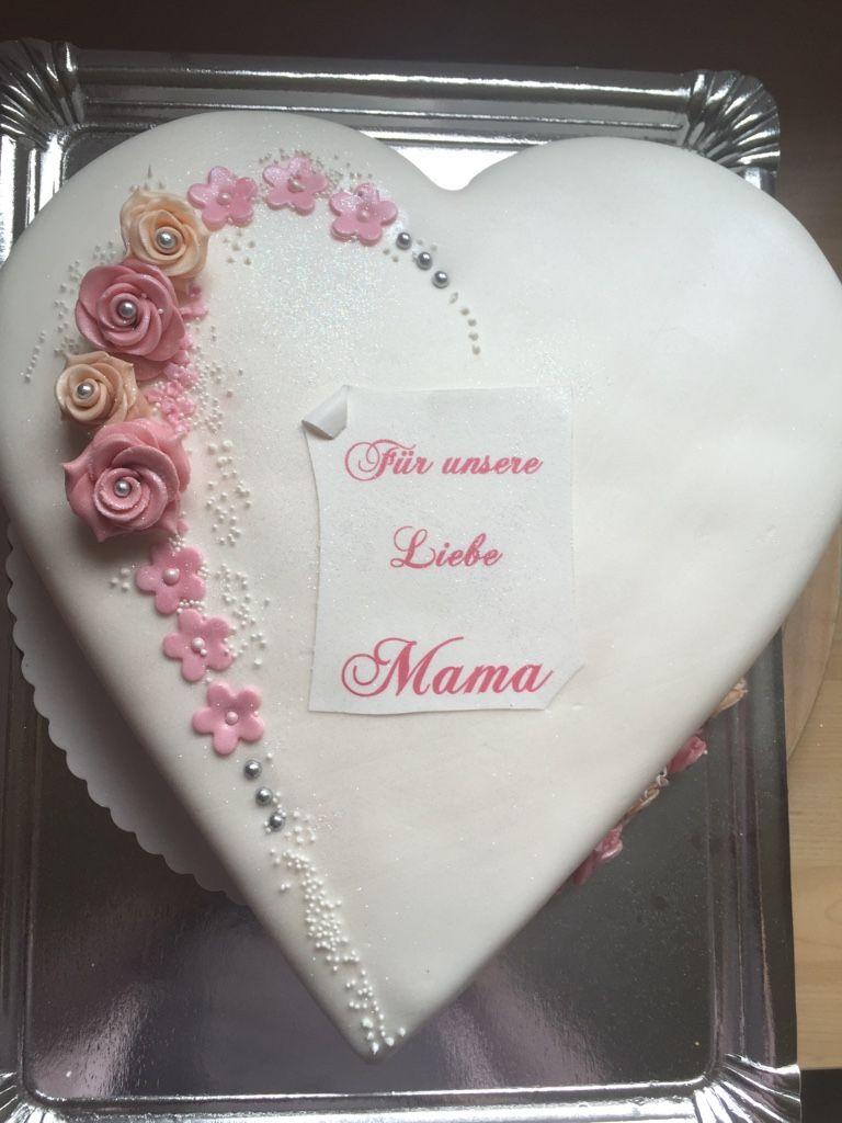 Kuchen Herzform Fur Mama Motivtorten Cakes Fondanttorten