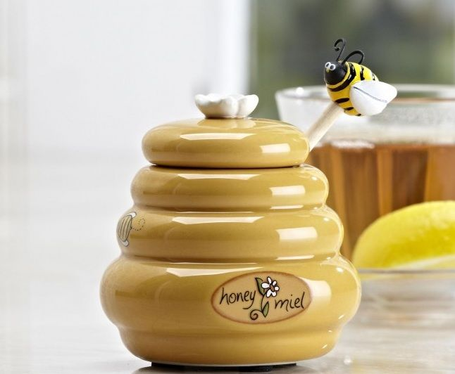 Honey Bee Kitchen Decor With Honey Bee Cookie Jar | Decolover.net