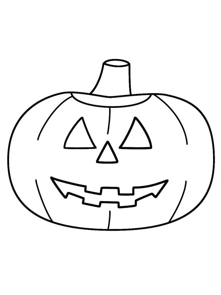 Really Scary Jack O Lantern Coloring Page - Free & Printable ... | 1000x750