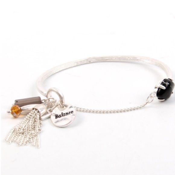 Silver Balance Toggle Bracelet