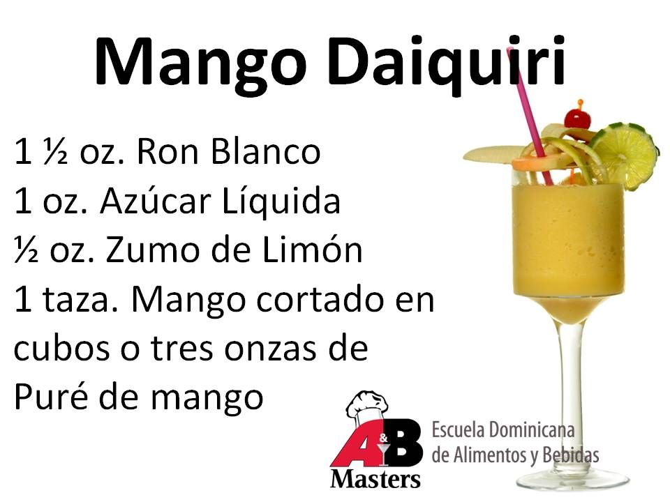Receta Del Coctel Mango Daiquiri Cocktail Recipes Virgin Cocktail Recipes Recipes