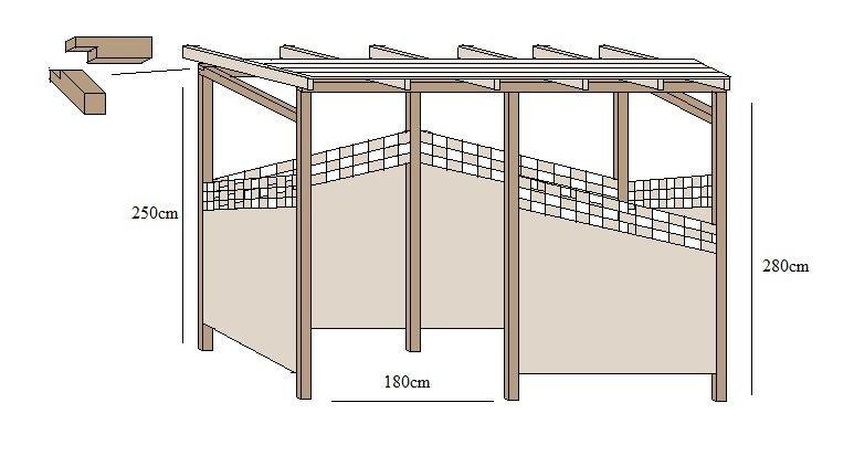 Unterstand selber bauen Bauen Pinterest Unterstand, Selber - gartenpavillon selber bauen