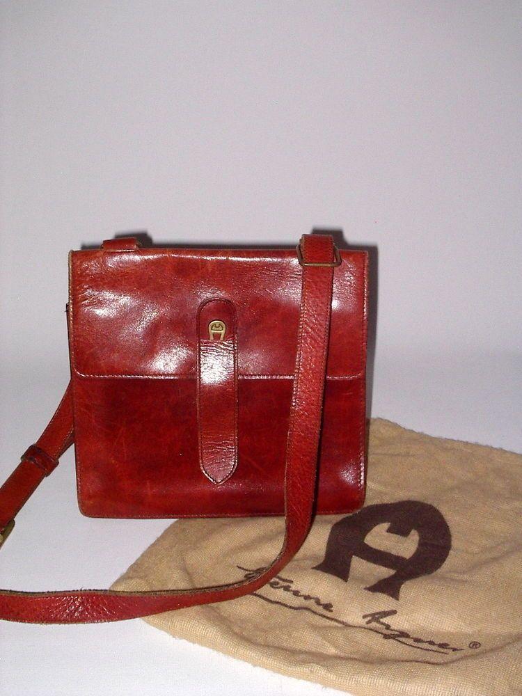 bis zu 60% sparen größte Auswahl billigsten Verkauf Orig.Etienne Aigner Schulter-Tasche Bag Leder VINTAGE ...