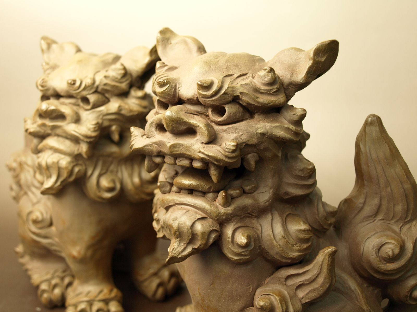 shisa or okinawan guardian dogs place on either side of your entryway the open mouth scares. Black Bedroom Furniture Sets. Home Design Ideas