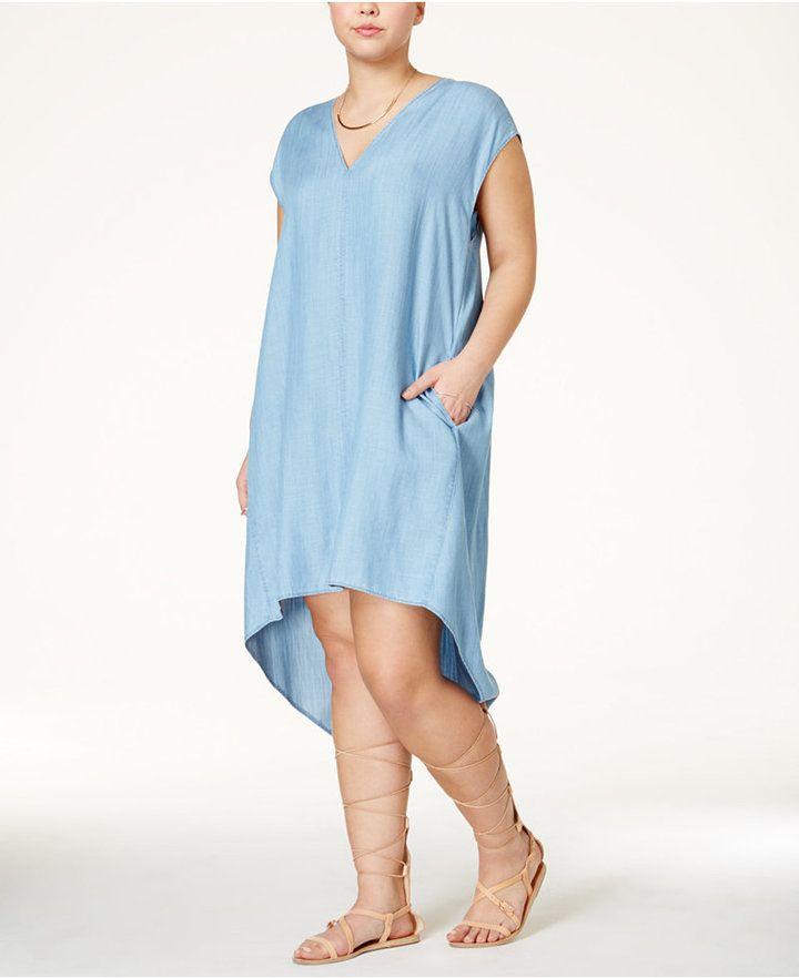 Rachel Roy Discount Gowns: RACHEL Rachel Roy Curvy Plus Size Sydney High-Low Shift