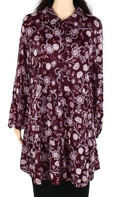 Style & Co Women's Button Down Shirt Purple Size 2X Plus Floral Print $44 #055 #fashion #clothing #shoes #accessories #women #womensclothing (ebay link)