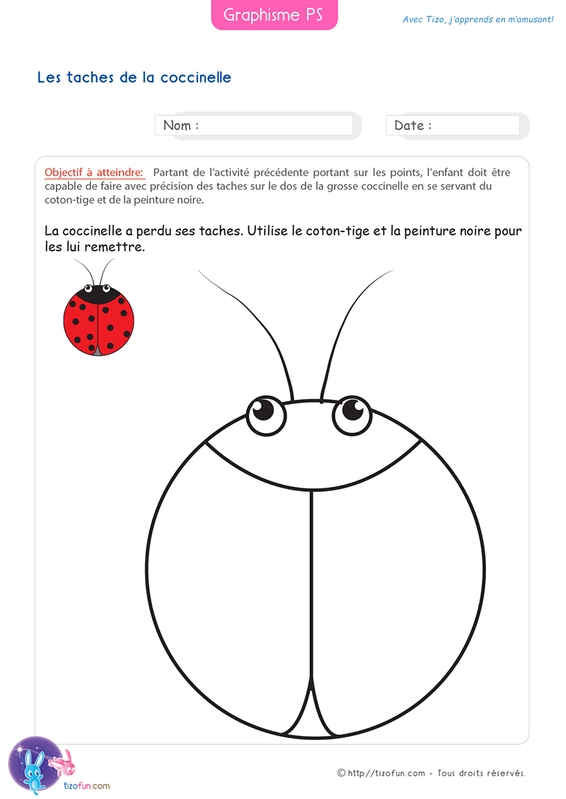 26 Fiches Graphisme Petite Section Maternelle | Graphisme petite section, Dessin coccinelle ...