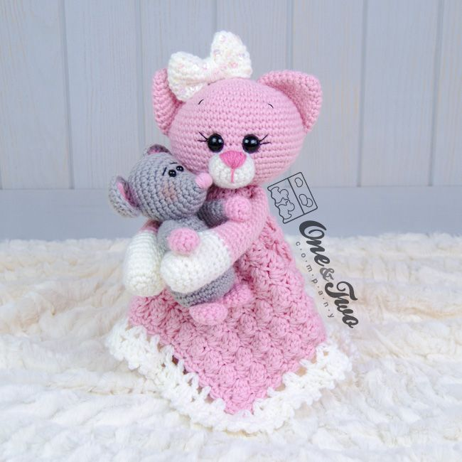 Kissie the Kitty and Skip the Little Mouse Lovey crochet pattern by ...