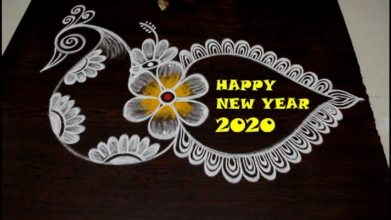 Happy New Year 2020 Rangoli and kolam Designs by easy