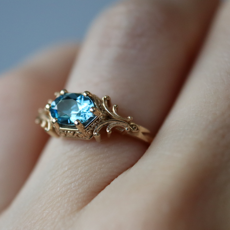 Mage Ring Gold Diamond Wedding Band Pink Morganite Engagement Ring Rose Engagement Ring