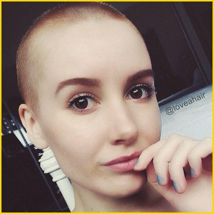 bald girl | Bald girl, Hair skin nails, Shaved head