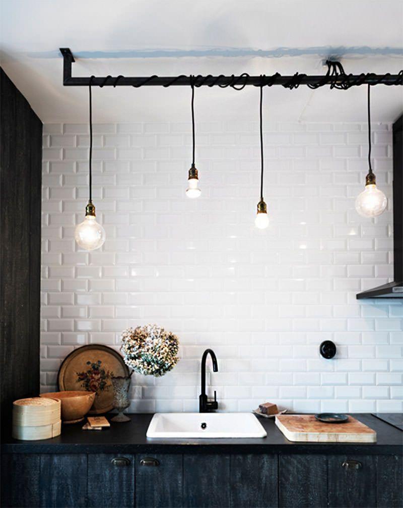1 Ilumina O Industrial Bancada Cozinha Lights Pinterest