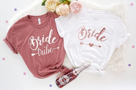 Bride Tribe Bachelorette Party Shirts Team Bride Shirts Bride Shirt Bachelorette Party Tanks Bridal Shower Bridal Party Tanks Weddingbachelorette