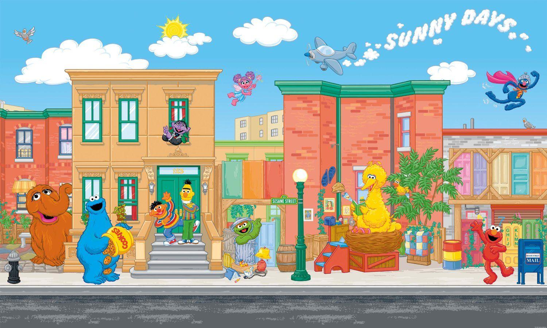Sesame Street Mural 1500x900pixels