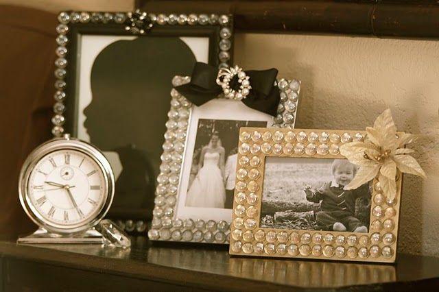 Make Easy Gemstone Frames. Dollar store craft- around $2 a frame. <3 ...