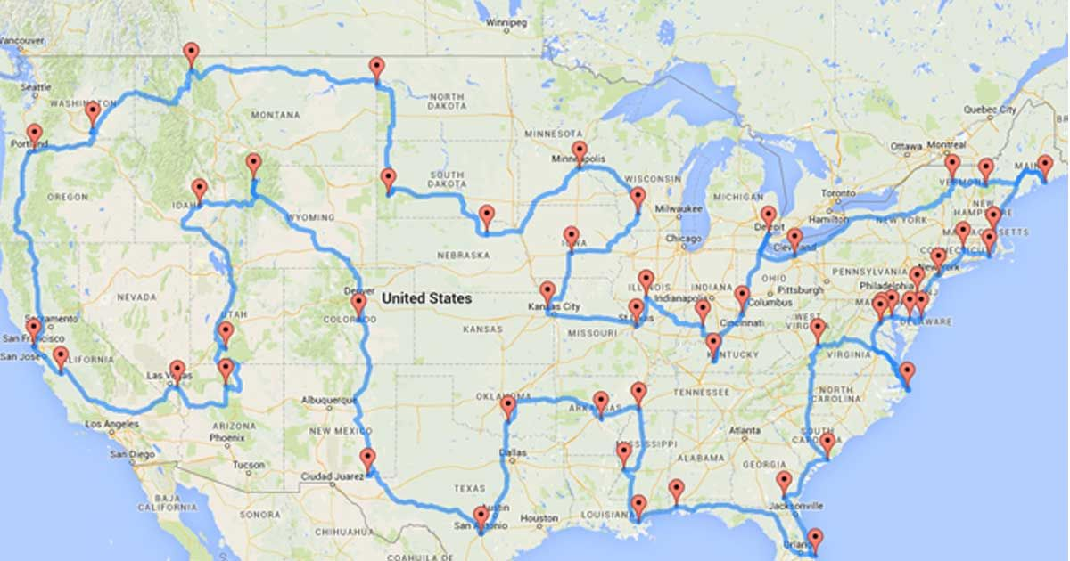 According To Science This Is The Perfect And Best Road Trip You - Us highway map wi to ca