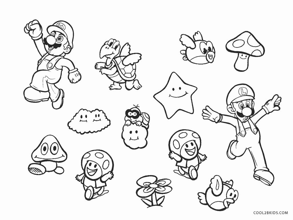 Super Mario Brothers Coloring Page Beautiful Free Printable Mario Brothers Coloring Pag Mario Coloring Pages Super Mario Coloring Pages Coloring Pages For Kids