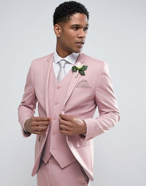 This Dusty Pink Suit Is Everything Asos Wedding Skinny Jacket
