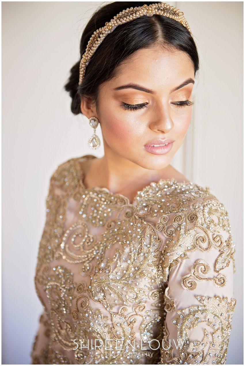 day dress, gold muslim wedding dress, gold beaded wedding dress