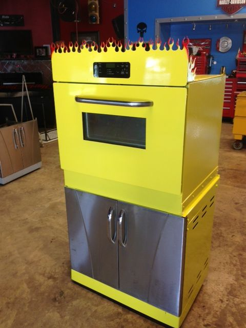 Powder Coating Oven Made From An Old Cook Stove And Mounted On A Barbecue Grill Base