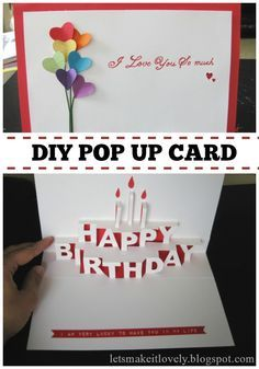 Happy Birthday Card Templates Free Delectable Homemade Popup Birthday Cards  Found Basic Happy Birthday Pop Up .