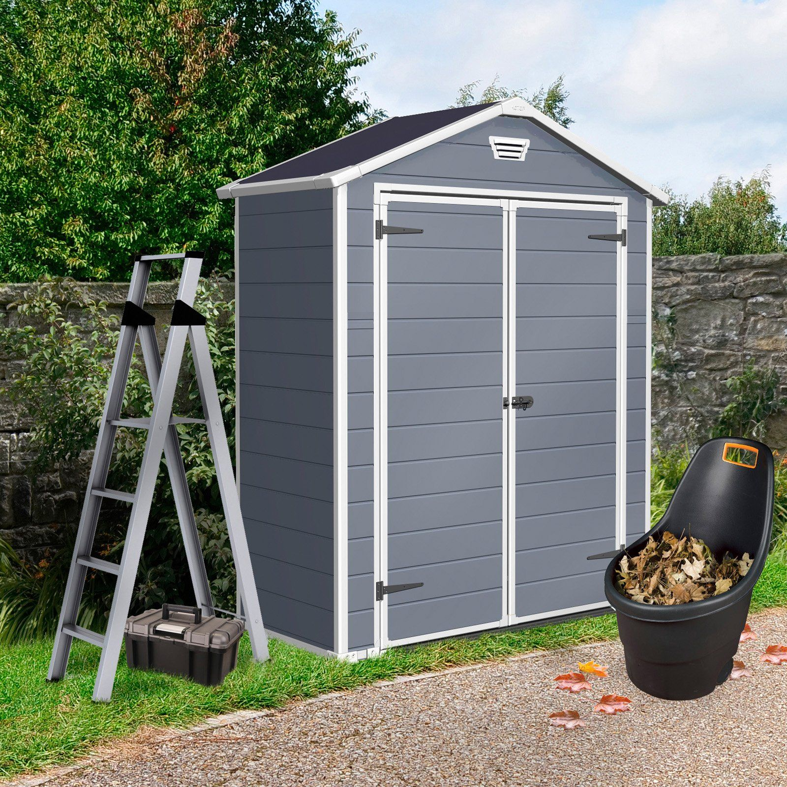 keter manor 6 x 3 ft storage shed 59999 - Garden Sheds 6 X 3