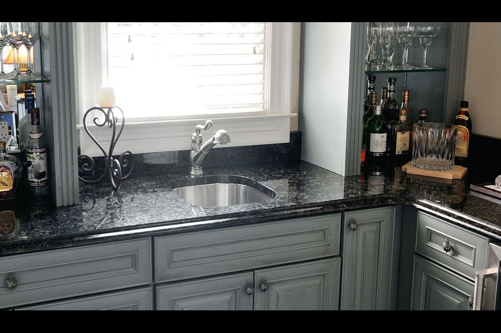 Volga Blue Granite Grey Cabinets Countertops Granite Kitchen Counters Granite Kitchen