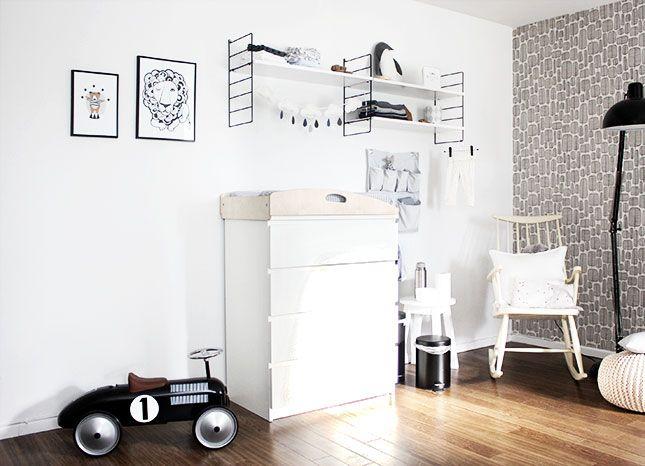 Ein Schlichter, Moderner Wickelplatz. Babyzimmer ...