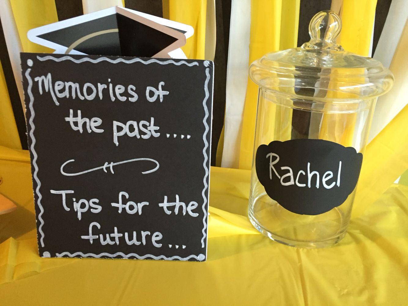 Memory And Advice Jar Graduation Party Diy Graduation Party Planning Senior Graduation Party