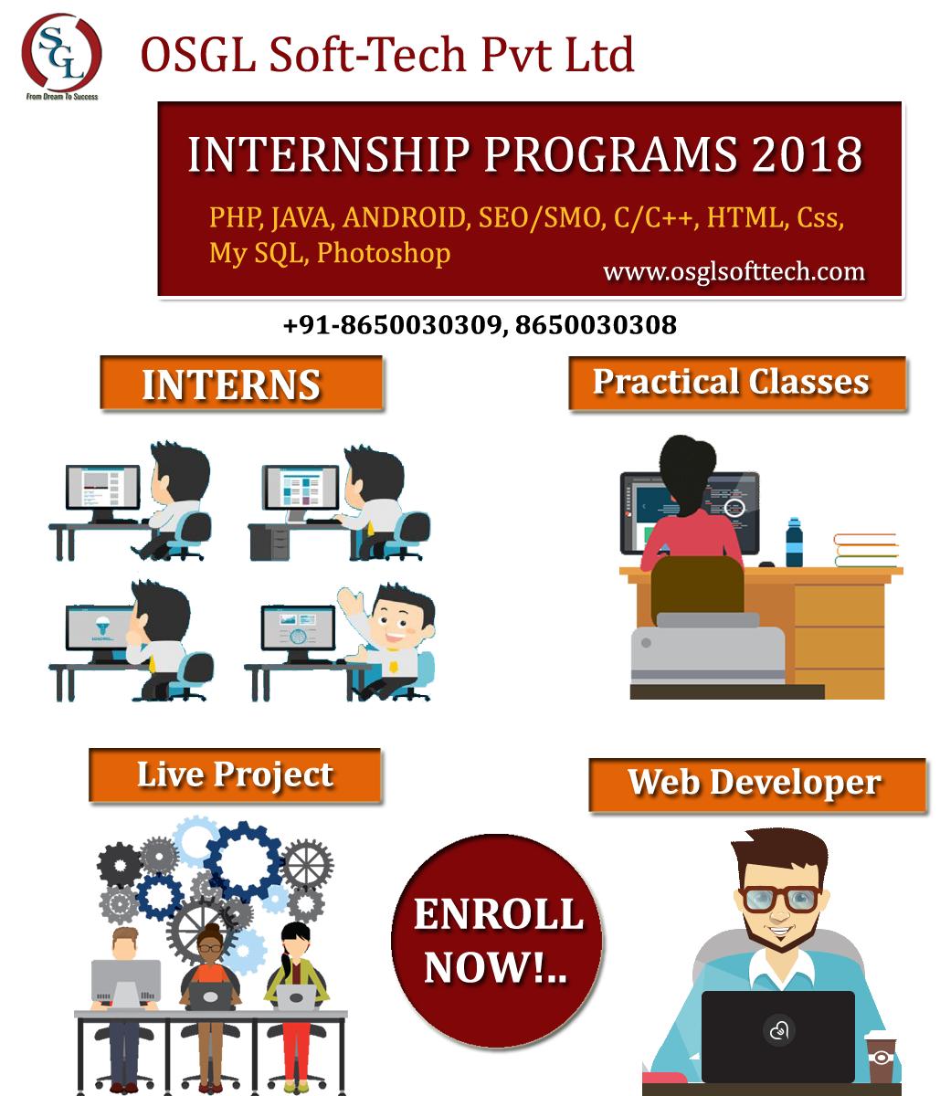 apply for internships 2018 in dehradun osgl soft