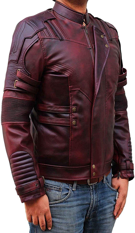 Amazon Com Blingsoul Red Leather Jacket Mens Distressed Biker Jacket Costume Pu Stj Xs Cl Maroon Leather Jacket Leather Jacket Men Fashion Suits For Men [ 1500 x 869 Pixel ]