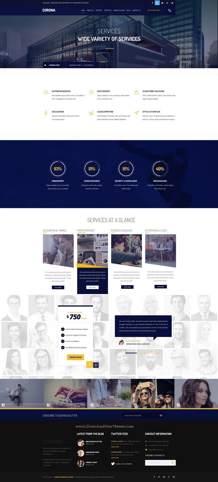 Corona Is Creative And Elegant Design Psd Template For Corporate And Business Website Web Design Tips Web Design Web Template Design