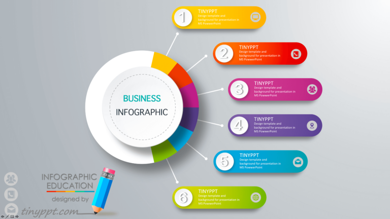 Business An Infographic Powerpoint Free Download Ans Icons