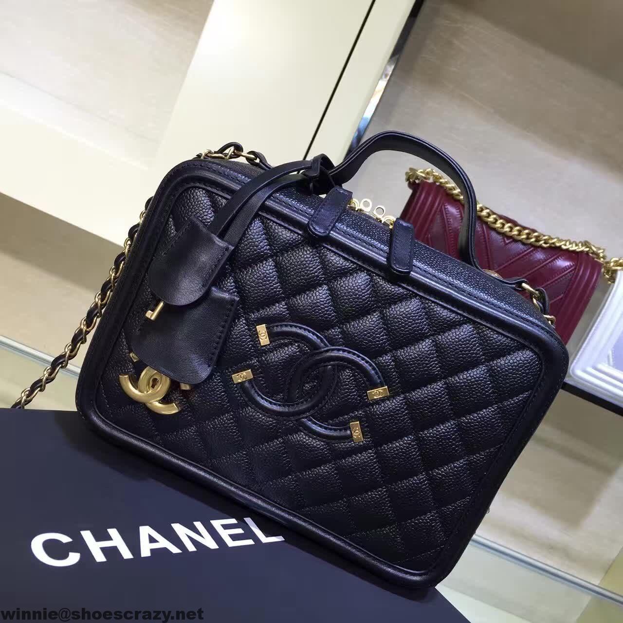 Chanel CC Filigree Vanity Case Medium Bag  53777f85c464c