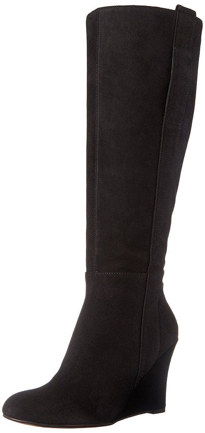 4a983f4d3e201 Nine West Women's Oran-Wide Suede Knee-High Boot *** You can find more  details by visiting the image link.
