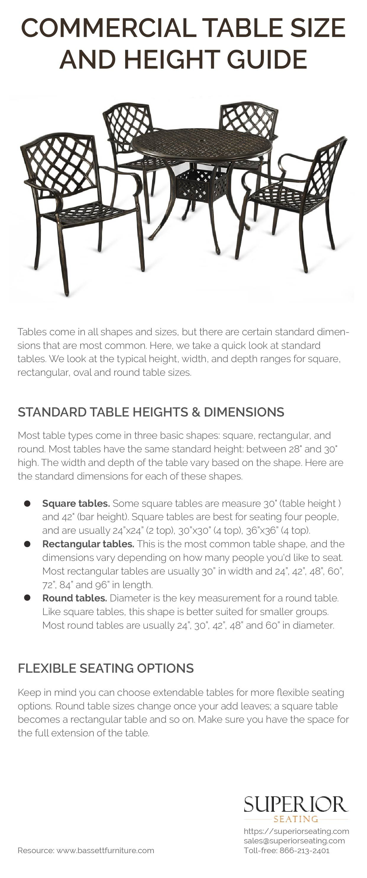 Dining table dimensions standard  superiorseating You can find tables in all shapes and