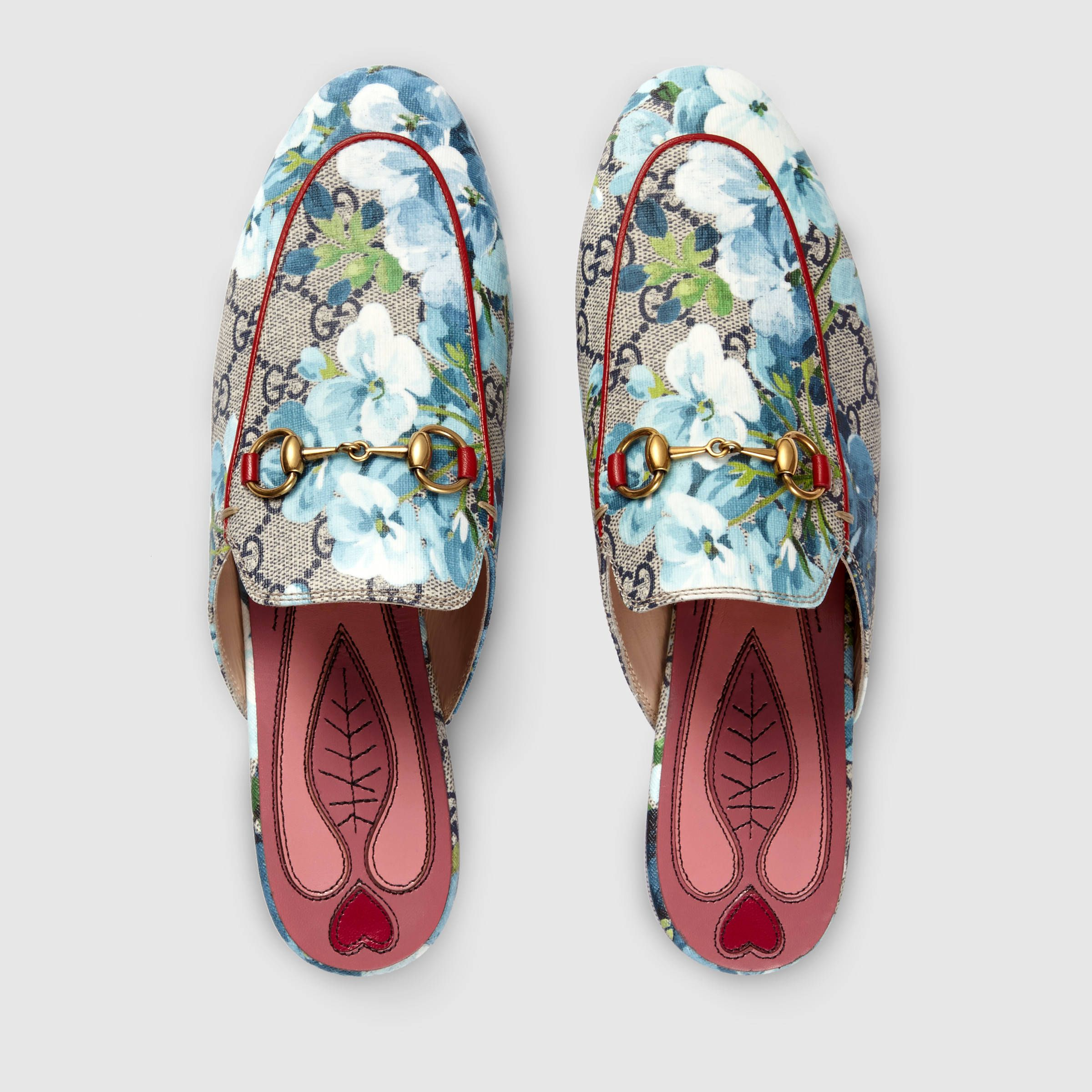 3e6c161242f Gucci  Princetown GG Blooms slipper in Pink Blooms Print