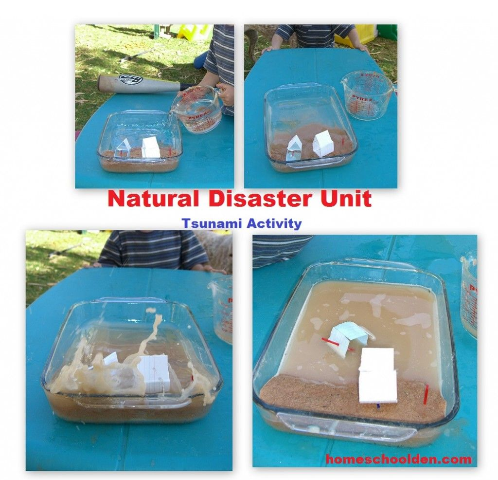 Tsunami Activity The Kids Recreated A Tsunami In A Flat