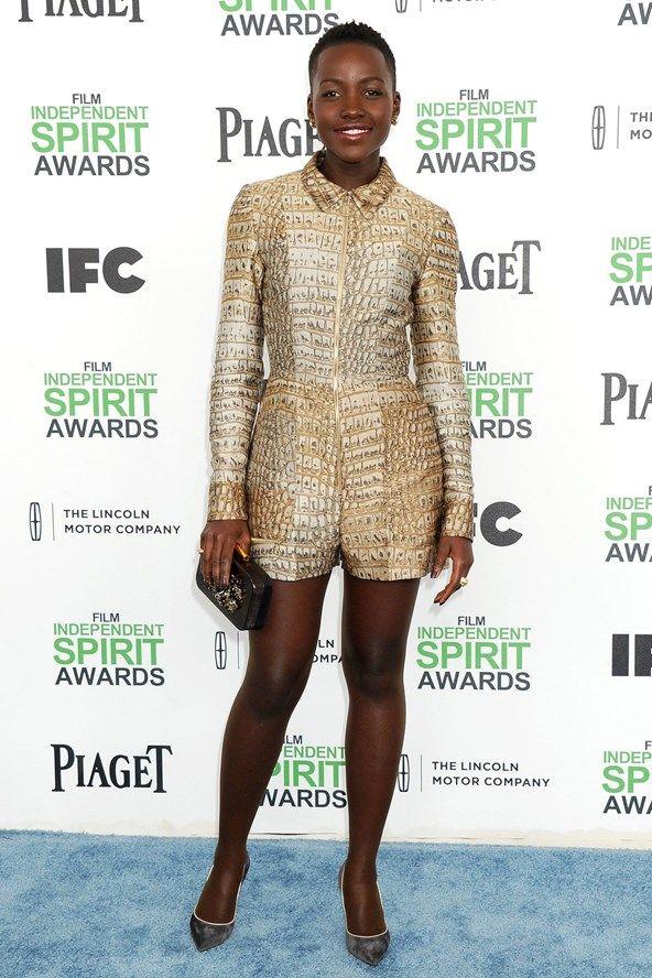 Lupita Nyong'o in a Stella McCartney playsuit.