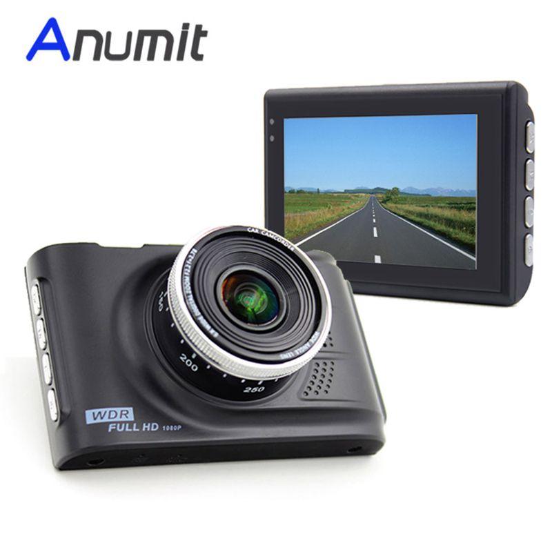 Anumit Car DVR Camera Dashcam Original Novatek 96223 Full HD 1080P 3.0 inch Registrator Recorder WDR G-sensor Zinc Alloy Metal