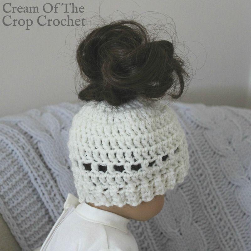 18 Inch Doll Madison Messy Bun Hat Crochet Pattern | Cream Of The ...