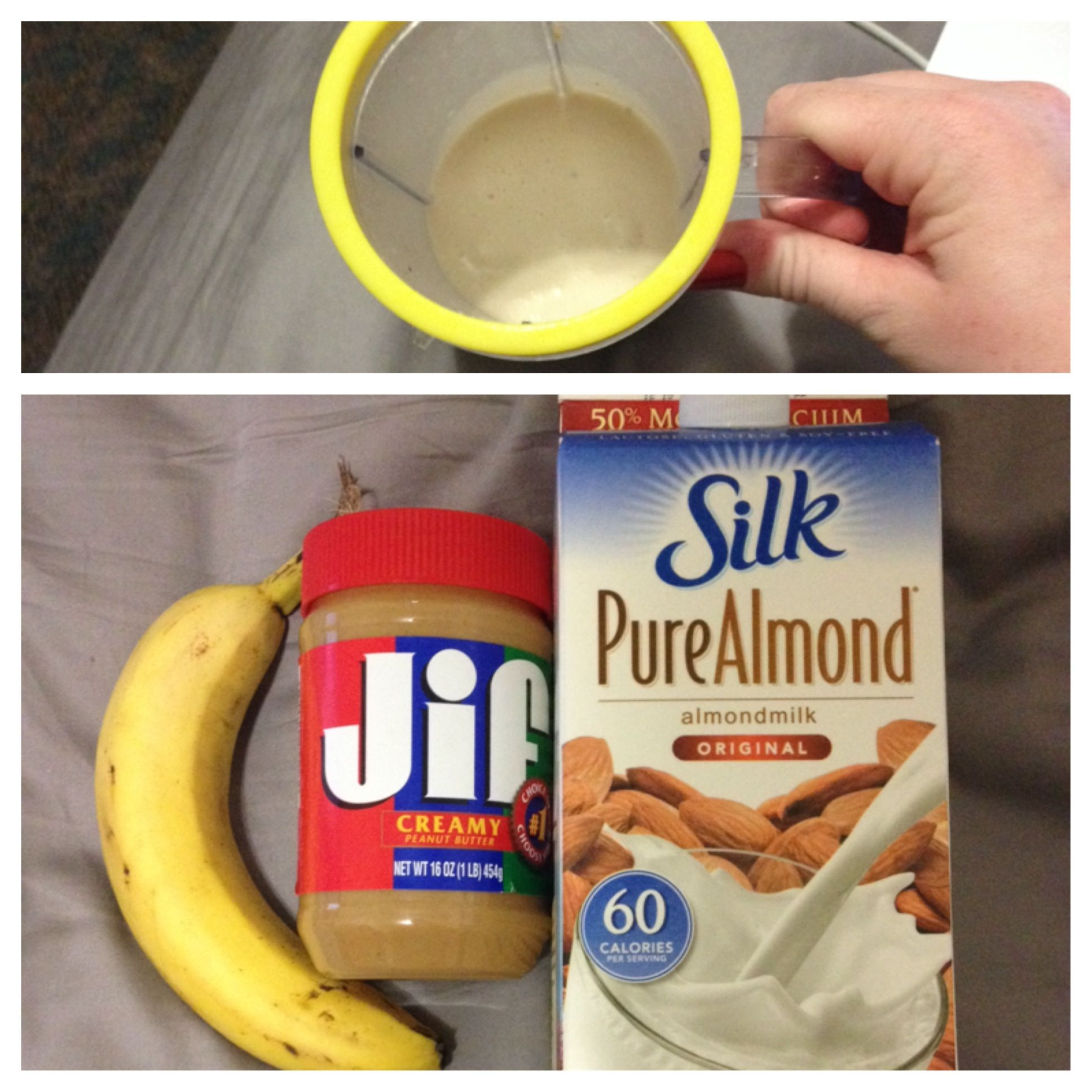 My roommate and i made this simple and fast smoothie in