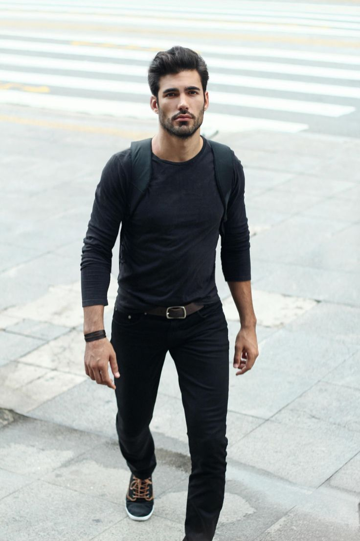 Black t shirt and jeans - Black T Shirt Dark Jeans Men S Charcoal Long Sleeve T Shirt Black Skinny Jeans