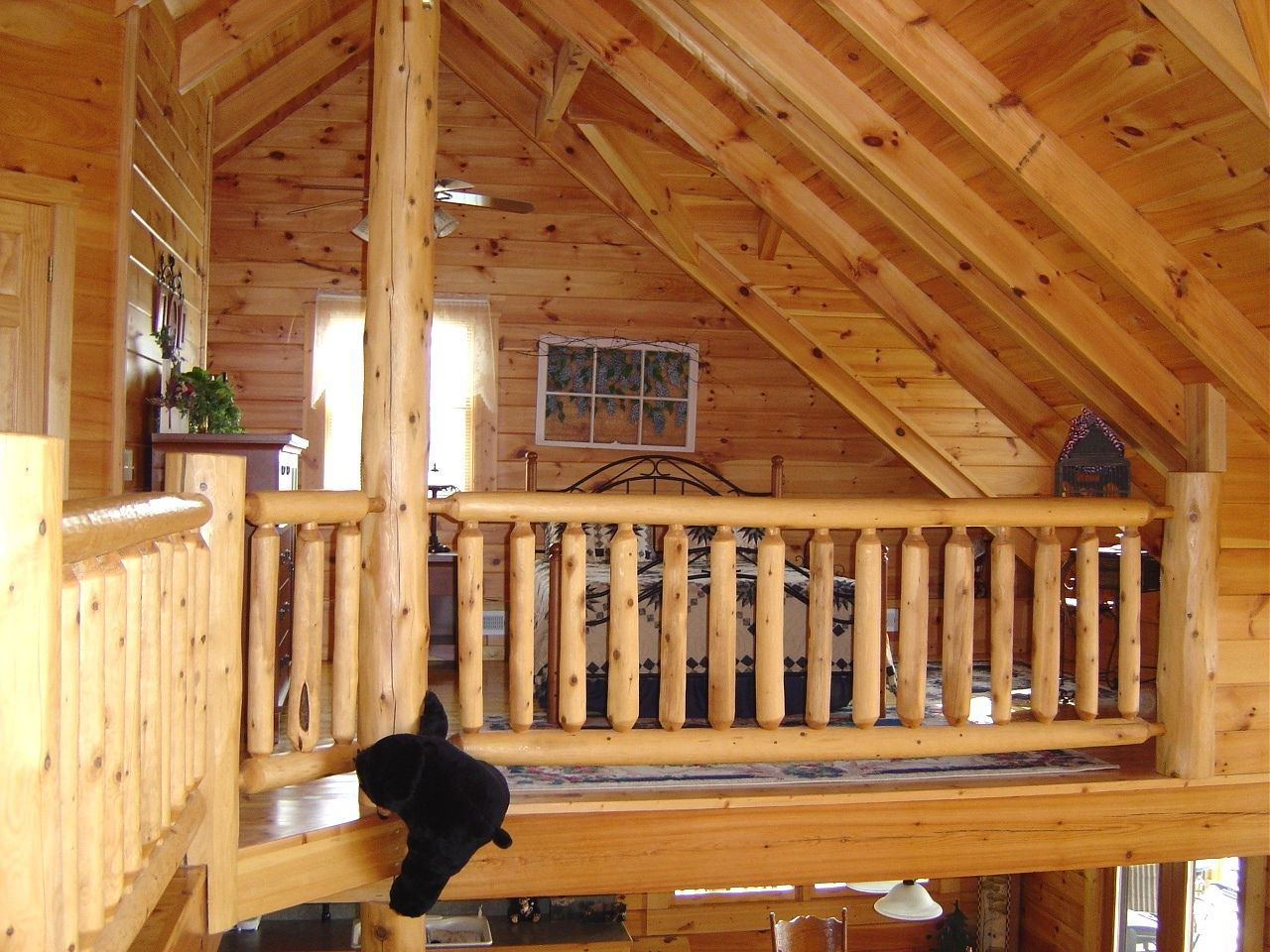 Wooden Lofts Inside Pictures Of Log Cabins  Douglas Lake Cabin Rental