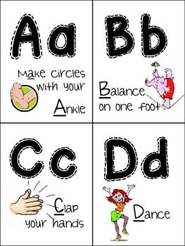 Exercise ABCs (Grades PreK-1) Just use template, don't pay ...