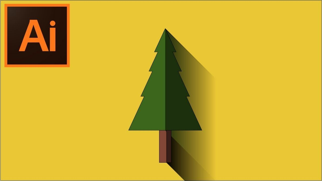 How To Make A Flat Tree Design In Adobe Illustrator Cc Adobe Illustrator Graphic Design Illustrator Tutorials Graphic Designer Portfolio